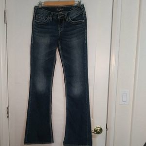 Silver Aiko Boot cut Jeans 27/35